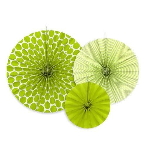 Green Paper Rosettes Set of 3 - Πρασινες Χαρτινες ροζετες Σετ των 3