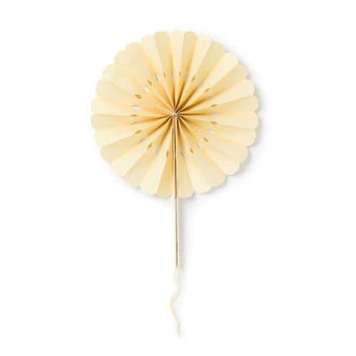 Ivory Paper Wheel Fans Pack of 20 / Ιβουαρ Βενταλιες Ροζετες Συσκευασια των 20τμχ