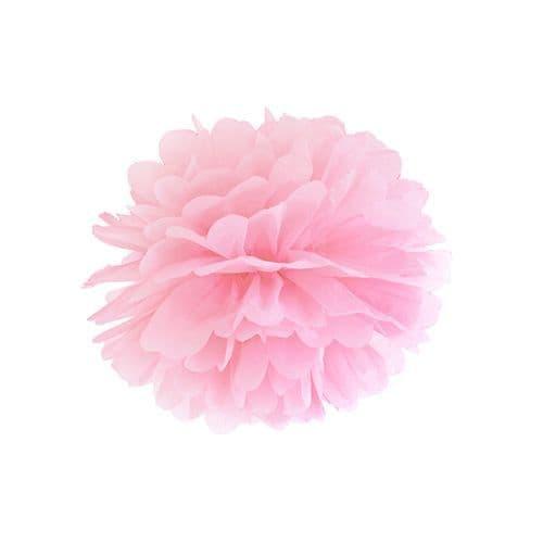 Light Pink Paper Pom Pom 25cm - Ανοιχτο Ροζ Χάρτινο Πομ Πομ 25εκ.