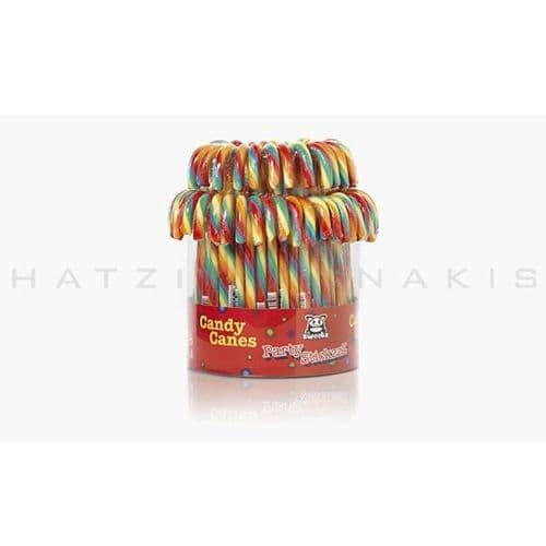 Lollipops Candy cane Multicolored  (Set of 72) - Γλειφιτζούρια μπαστουνάκια Πολύχρωμα Χατζηγιαννάκη (Σετ των 72)