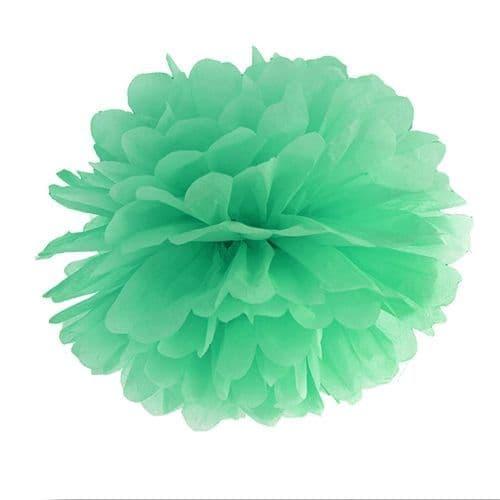 Mint Paper Pom Pom 35cm - Μιντ Χαρτινο Πομ Πομ 35εκ.