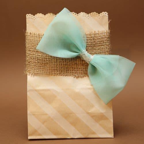 Oblique stripes paper bag favour / Μπομπονιέρα χάρτινο πλάγιο ριγε σακουλάκι
