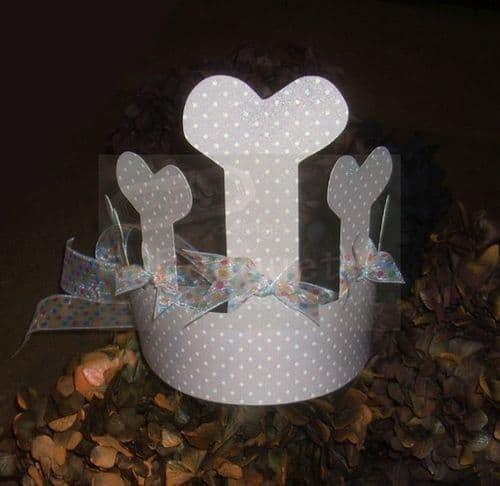 Paper crown bones for kids (set of12) / Κορώνα χάρτινη κόκκαλα για παιδιά (σετ των 12)