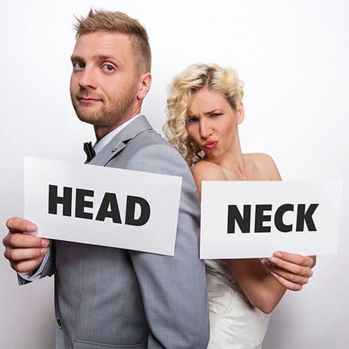 Photo Booth Props - Κάρτες για το photobooth:  Neck / Head