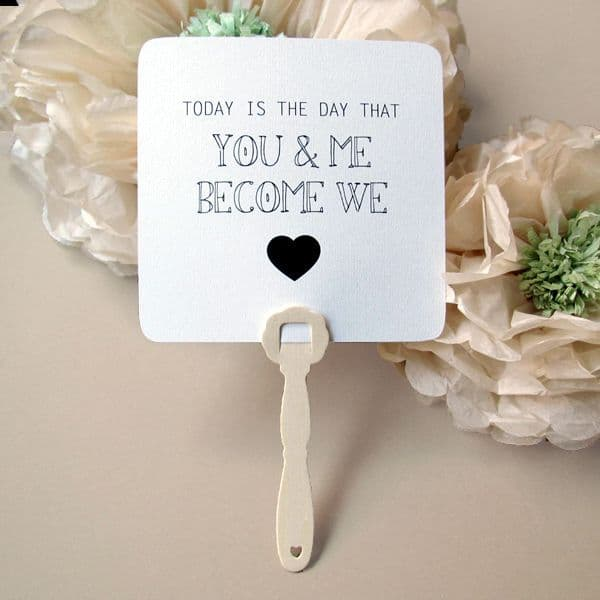 Χειροποίητες βεντάλιες για τον γάμο, τη βάπτιση, το πάρτυ. Βεντάλιες χάρτινες φυσικό μπεζ.