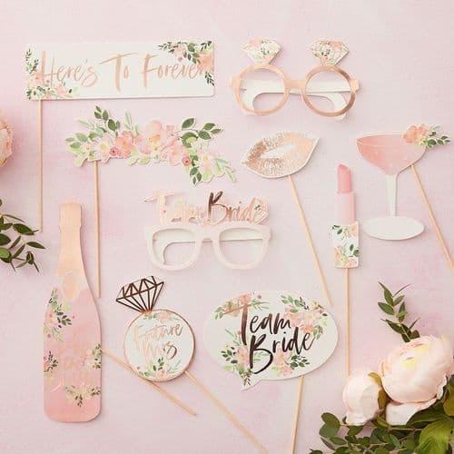 Wedding  floral photo props Σετ των 10