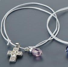 Witness pins bracelet with a crystal 50pcs / Μαρτυρικά βραχιολάκι με κρύσταλλο 50τμχ