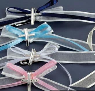 Witness pins ribbons and cross 50pcs / Μαρτυρικά κορδέλες και σταυρός 50τμχ