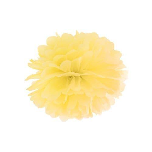 Yellow Paper Pom Pom 25cm - Κιτρινο Χαρτινο Πομ Πομ 25εκ.