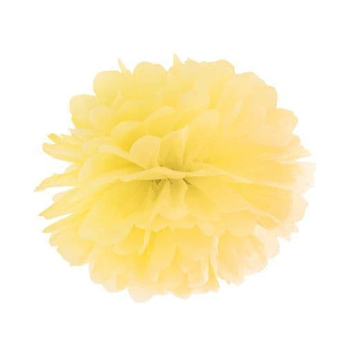 Yellow Paper Pom Pom 35cm - Κιτρινο Χαρτινο Πομ Πομ 35εκ.
