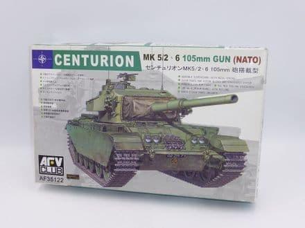AFV Club Kit AF35122 Centurion Tank Mk. 5/2 105mm Gun (NATO) 1/35 Scale