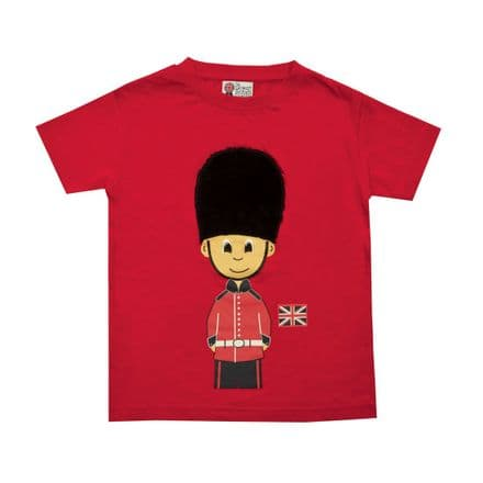 BR7008 Red Soldier Plush Bearskin Hat T-Shirt