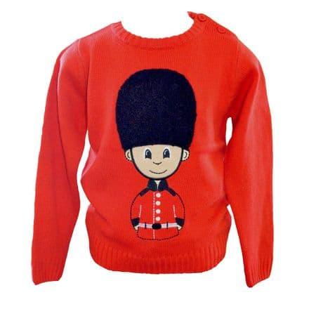 BR7017 Red Soldier Jumper  Plush Bearskin Hat