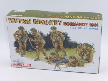 Dragon 1/35th Plastic Kit No 6212 - British  Infantry 6 Figures (Normandy 1944) KIT A