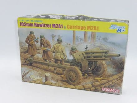 Dragon Plastic 1/35th Kit No 6499 - U.S. 105mm Howitzer M2A1 & Carriage M2A1