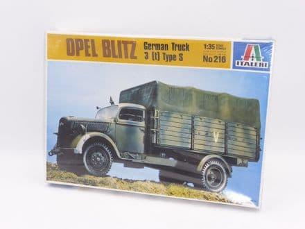 Italeri 1/35th Plastic Kit No 216 - Opel Blitz German Truck 3T Type S