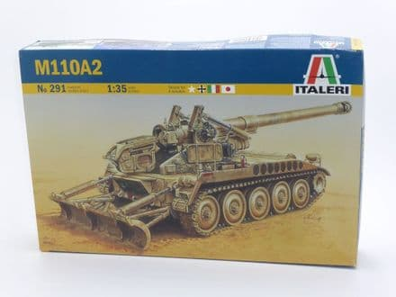 Italeri Kit 291 - M110A2 Self Propelled Howitzer SEALED BOX  1:35 Scale