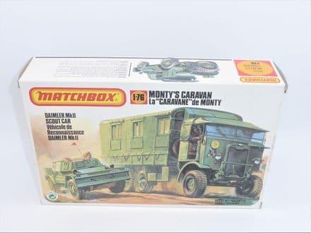 Matchbox Monty's Caravan and Daimler Mk11 Scout Car Plastic Model Kit Number 40175