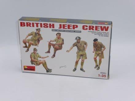 MiniArt 1/35th Plastic Kit No 35051 - WWII British Jeep Crew