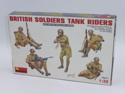 MiniArt 1/35th Plastic Kit No 35071 - WWII British Soldiers Tank Riders