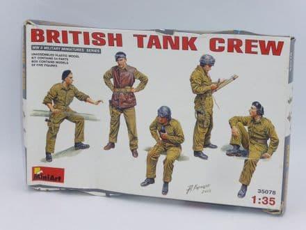MiniArt 1/35th Plastic Kit No 35078 - WWII British Tank Crew