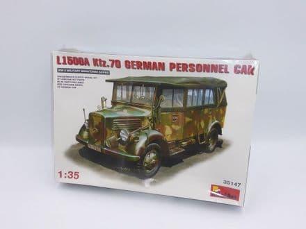 MiniArt 1/35th Plastic Kit No 35147 - WWII L1500A Kfz.70 German Personnel Car