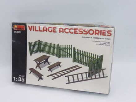 MiniArt 1/35th Plastic Kit No 35539 - Village Accessories