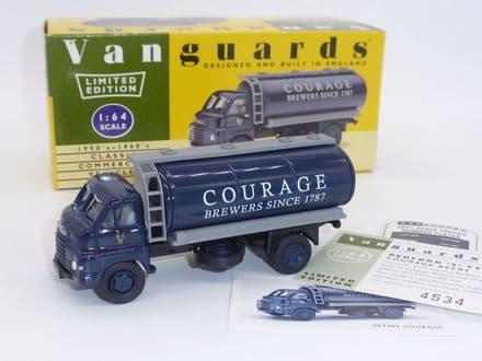 "VA7004 Vanguards Limited Edition Bedford S Type Tanker ""Courage Beers"""
