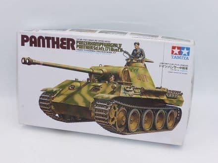 Vintage Tamiya 1/35th Plastic Kit No 35065 - WWII Panther V Tank Panzerkampfwagen (Kit A)