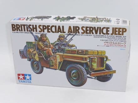 Vintage Tamiya Kit 35033 WW2 British Special Air Service Jeep 1/35th (KIT A)