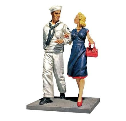 """WB13031 """"Shore Leave"""" U.S.N. Sailor on Liberty & Date 1942-45"""