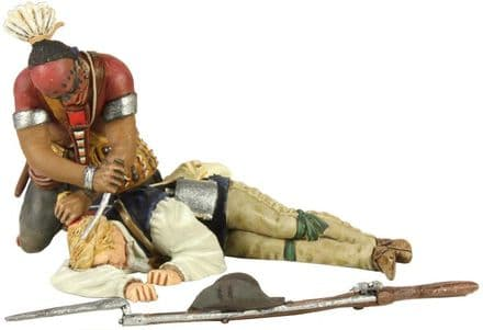 WB16009 Woodland Indian Scalping Colonial Militia Hand to hand Set