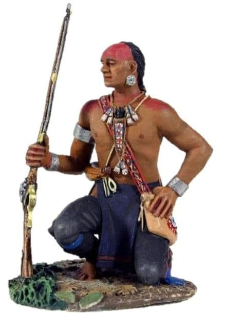 WB16011 Eastern Woodland Indian Kneeling with Hand on Hip