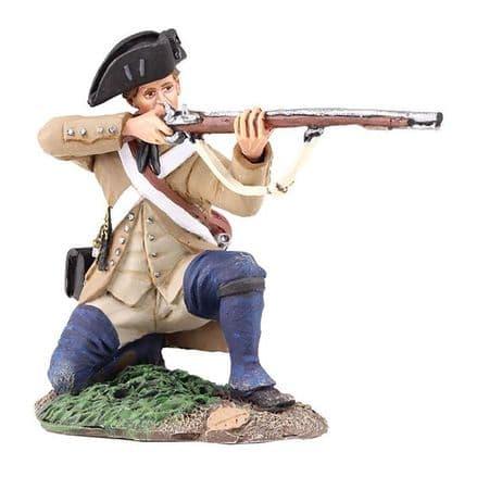 WB16037 Colonial Militia Kneeling Firing