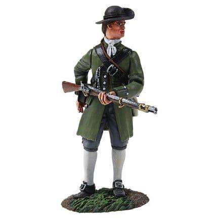 WB16045 Colonial Militia Standing Reaching for Cartridge