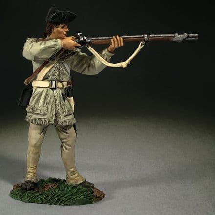 WB16069 Continental Line in Hunting Shirt Standing, Firing
