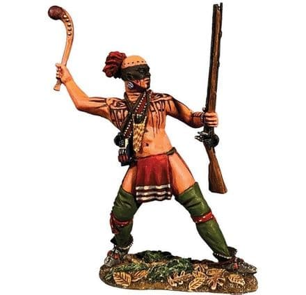 WB16087 Native Warrior Attacking with Warclub