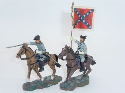WB17372 Confederate Captain and Color Bearer