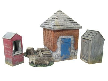 WB17681 - Smokehouse with Well, Outhouse & Woodpile