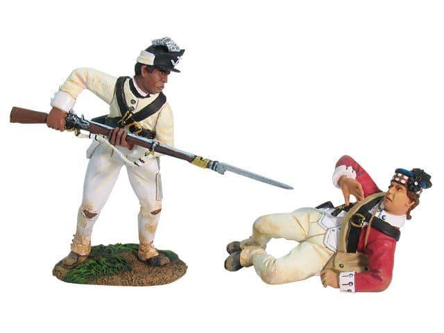 WB17839 British 71st Highlander and Rhode Island Light Infantry Hand-to-Hand Scene