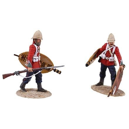 "WB20167 ""Clearing the Yard British 24th Foot Figures Stacking Zulu Shields Ltd"