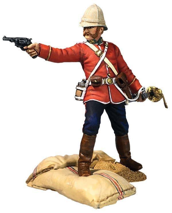 WB20190 'Getting a Little Close' 24th Foot Officer Firing Pistol Ltd Ed of 450 Sets