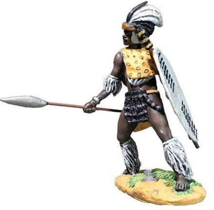 WB20195 Zulu Thrusting with Spear uThulwana Reg