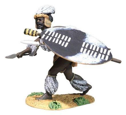 WB20196 Zulu Attacking low with Spear uThulwana Reg