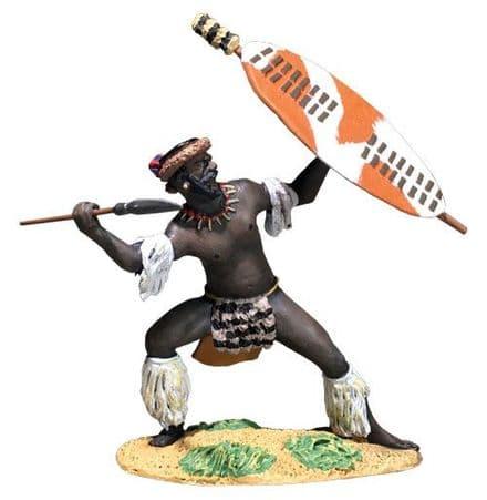 WB20198 Zulu Defending with Spear uDloko Reg