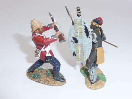 WB20199 - Ukulwa Nokufa! Zulu Warrior and British 24th Foot Hand-To-Hand Set