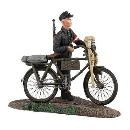 WB25036 German Hitler Youth Pushing Bicycle