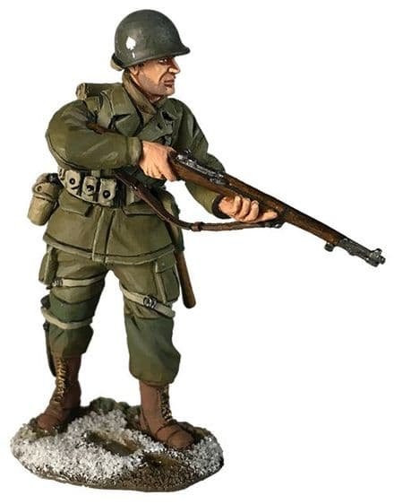 WB25064 US 101st Airborne in M-43 Jacket Advancing Winter 1944-45