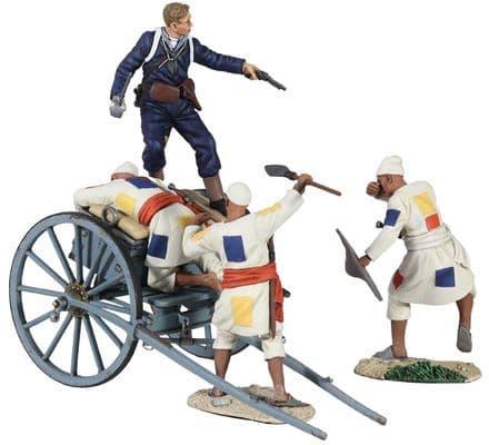 "WB27055 ""A Near Run Thing"" British Naval Gatling Gun Limber Ltd Edition"