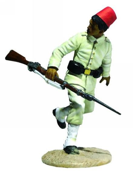 WB27071 Egyptian Infantryman Running Looking Back
